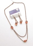 A Chinese Crystal Sunset earrings andnecklace