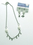 A Green Jade earrings andnecklace