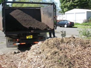 Delivering the soil as close as possible