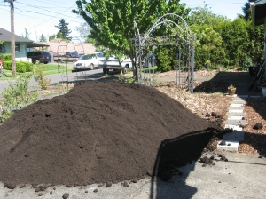 Six cubic yards of lovely soil